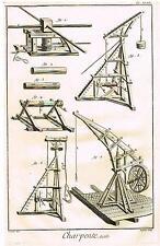 "Diderot Enclyclopedie  CHARPENTE pl XLVII"" (CARPENTRY TOOLS) Engraving  1751-72"