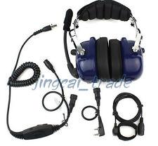 Blue Heavy-duty Noise-reduction Headset for KENWOOD PUXING WOUXUN BAOFENG radio