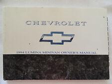 1994 Chevrolet Lumina Minivan Owners Manual 94 Chevy - No Case