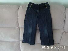 Girls 4 Years - Indigo Blue Denim Cropped Styled Jeans - Next