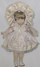 Vintage Vlasta Cloth Oil Painted Face & Body Doll in Beautiful Pastel Satin Lace