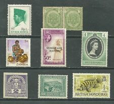 Indonesia  Republik,  British Honduras, Zambia lot 9 -  MNH stamps, pair