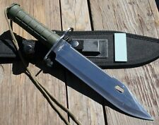"""13"""" Rambo Style Hunting KNIFE Survival Fishing Fixed Blade Bowie Military Saw"""