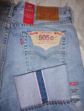 $188 NWT Levi's Women 505 c Japanese Selvedge Slim Straight Leg Jeans 283420010