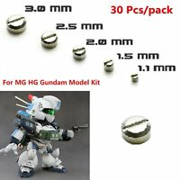 30* Metal Armor Detail-up Φ1.1mm~3.0mm Tornillos Screw Para MG HG Gundam Modelo
