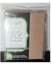 25 Ct Kraft Smooth Envelopes A2 Invitation - 4.37 X 5.7 Inches Core'dinations