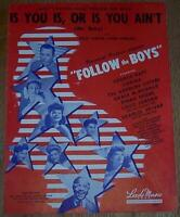 Lot of Two Pieces Movie Sheet Music Starring George Raft Every Night Follow Boys
