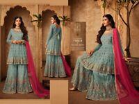 SHARARA PLAZZO INDIAN SALWAR KAMEEZ SUIT WOMEN DESIGNER PAKISTANI WEDDING DRESS
