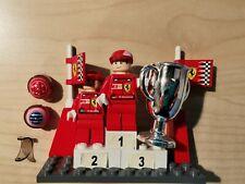 Lego Racers Formel 1 Ferrari Siegerehrung Schumacher Barichello rar selten