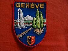 VINTAGE  GENEVE  PATCH Embroidered Cloth Patch Badge