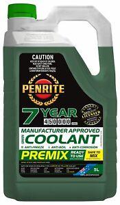 Penrite 7 Year 450,000km Green Coolant Premix 5L fits Volvo P 2200 1.8 50kw, ...