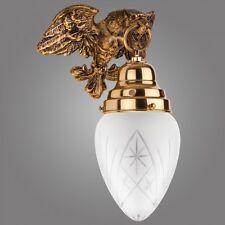 Exklusive Wandlampe Ouro aus Hochglanz Messing / klassisch Wandleuchte