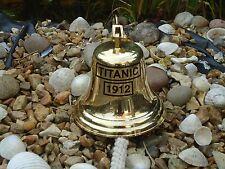 Titanic Ships Brass Bell with Rope & Bracket Nautical / bar pub door desk