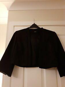 Roman black bolero style jacket size 18