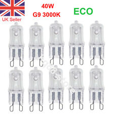 10pcs G9 40W Halogen Bulbs ECO Light Bulbs Clear Capsule Lamp Replaced 3000K