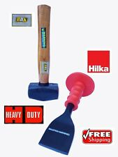 "Demolition Striking Kit 1kg Club Hammer 2 1/4"" Brick Chisel/Bolsters Set Hilka"