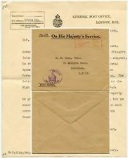 GB 1930 LETTER re REMITTANCE to PITCAIRN ISLAND + USE of GB STAMPS to R.C KING