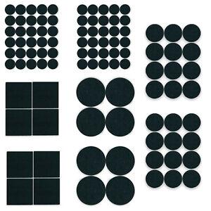 100 Felt Pads Self Adhesive Black Sticky Furniture Floor Chair Legs Protectors