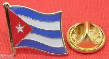 Cuba Country Flag Lapel Tie Pin Badge Brooch Republic República de Cuba  Cuban