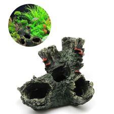 New listing Aquarium Rock Cave Ornament Rockery Hiding Landscape Tank Underwater Decor