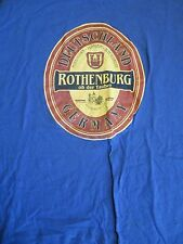 S blue DEUTSCHLAND GERMANY ROTHENBURG t-shirt by B&C