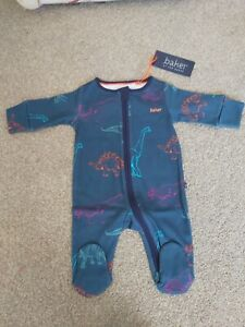 🦕TED BAKER 🦕 Boys Cute bright Dino dinosaur Sleepsuit  Newborn BNWT