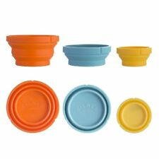 Kilner MEASURE and STORE SET 3 Silicone Measuring Cups 60ml 125ml 250ml