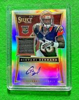 GIOVANI BERNARD PRIZM AUTO PATCH ROOKIE CARD SP#/99 BENGALS 2013 SELECT FOOTBALL