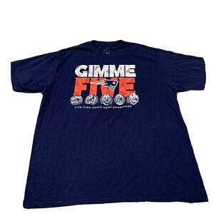 New England Patriots Five Time Super Bowl Champs T Shirt NFL Football Mens XL