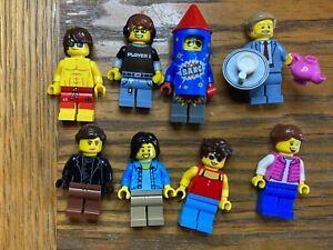 Lego City Minifigure Bundle #6  8 Figures Free p&p Used