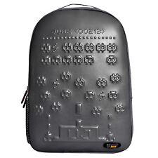 Urban Junk - Invader Grey 3rd Dimension Embossed Rucksack/Backpack