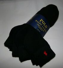 NWT MENS POLO RALPH LAUREN SPORT SOCKS~6 PAIRS~BLACK