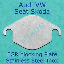 EGR Valve Blanking Plate VW SEAT SKODA AUDI VOLVO Stainless Steel Inox block