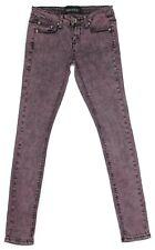 Imperial Star Junior Womens Jeans Skinny Pink Purple Stretch Denim Size 5 27x31