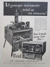 8/1945 PUB REID & SIGRIST TEST APPARATUS GYROSCOPIC INSTRUMENTS GYROSCOPE AD