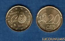 Espagne - 2016 - 20 Centimes D'Euro - Pièce neuve de rouleau - Spain