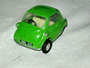 A Vintage English Spot On by Triang 1:42nd Scale Green BMW Isetta Toy Model