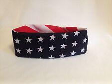 USA AMERICAN FLAG HEAD WRAP BANDANA SCARF STARS STRIPES RED WHITE BLUE 21X21
