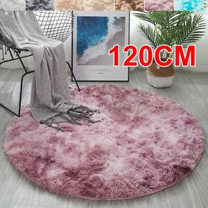 120cm Round Floor Mat Soft Rug Carpet Blanket Bedroom Cushion Plush Home Nonslip