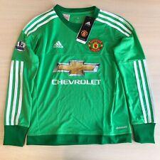 5+/5 Manchester United 2015/2016 Goalkeeper Boys Sz S shirt jersey soccer 9/10Y