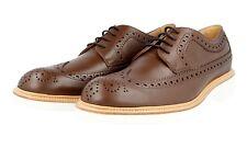 Lujo tods Oxford wingtip full brogue zapatos derby Brown nuevo 8,5 42,5 43