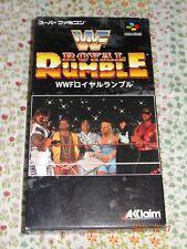 SFC WWF ROYAL RUMBLE WWF SUPER FAMICOM JAPAN Box Game sfc.28
