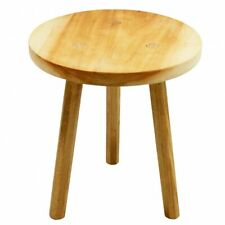 Handmade Small Wooden Milking Stool Seat Shabby Chic Traditional Chair 35cm Tall