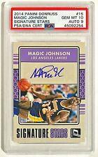 2014-15 Donruss Magic Johnson Auto #'d 16/40 PSA 10 GEM MINT POP 1 Lakers Auto 9