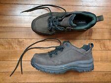 Nice Lands End Men's 8D Brown Leather Waterproof Hiking Winter Work Boots Green