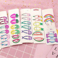 6Pcs Mini Girls Fruit Hair Clips Snaps Hairpin Baby Barrettes Hair Accessories
