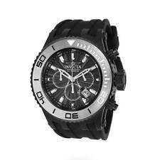Invicta Subaqua 24254 Men's Round Chronograph Date Black Silicone Analog Watch