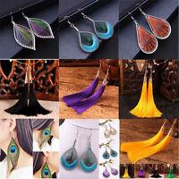 New Fashion Womens Long Tassels Ear Drop Stud Dangle Earrings Charm Boho Jewelry