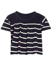 T-shirts, hauts et chemises bleu avec des motifs Rayé pour fille de 2 à 16 ans