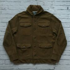 Polo Ralph Lauren Shawl Collar Mackinaw Jacket Size M Green Field Vtg
